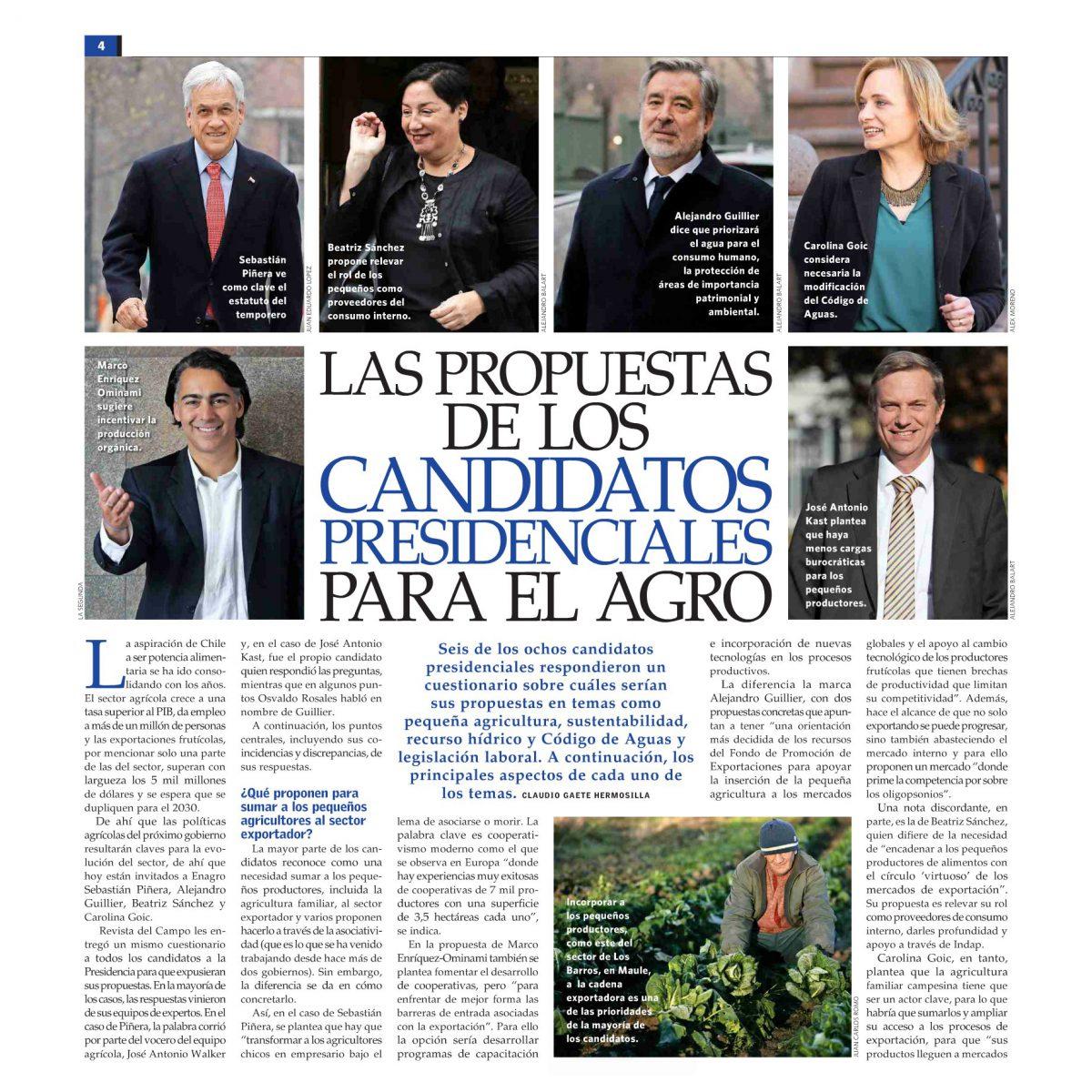 Las propuestas de los candidatos presidenciales para el agro