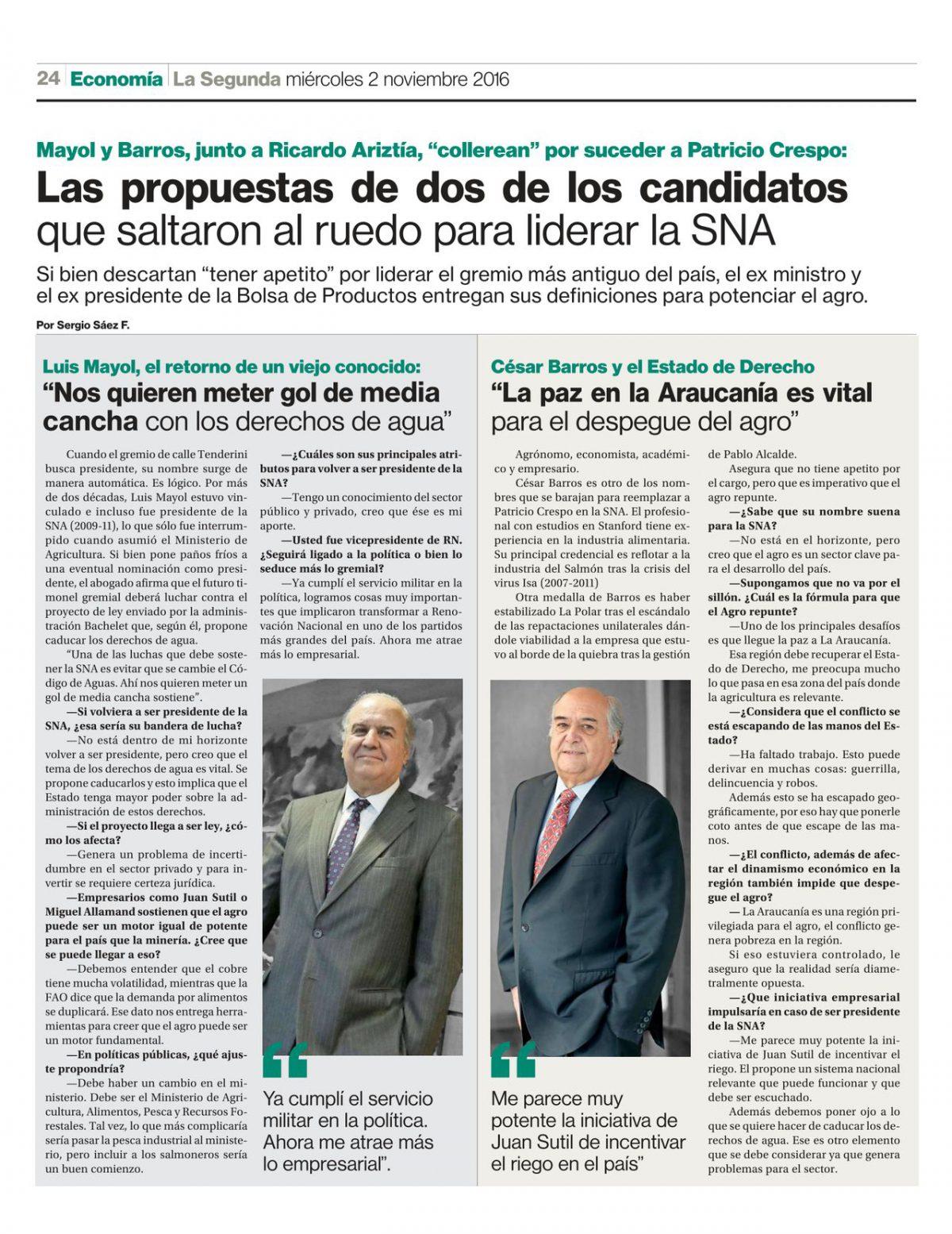 Las propuestas de dos de los candidatos que saltaron al ruedo para liderar la SNA