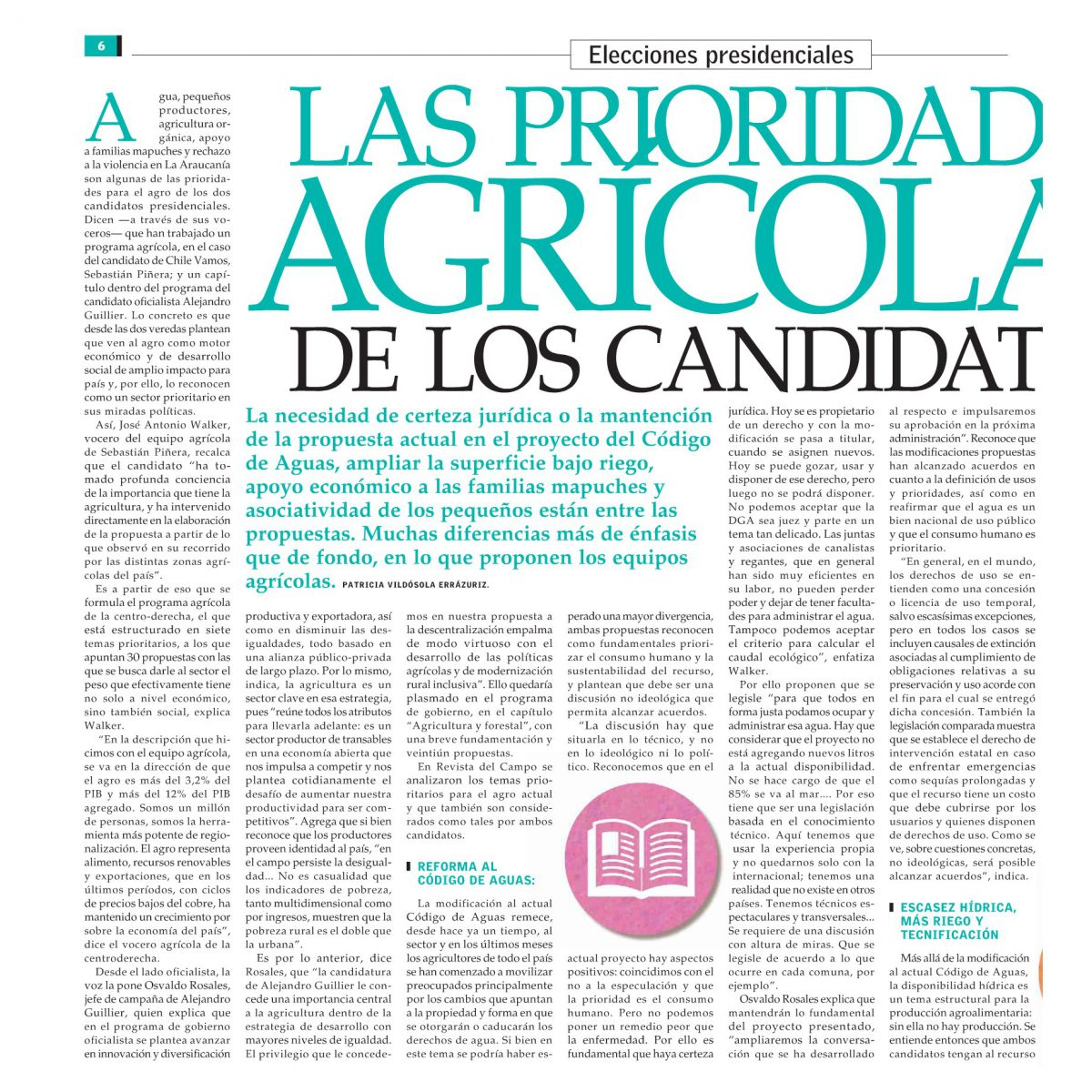 Las prioridades agrícolas de los candidatos