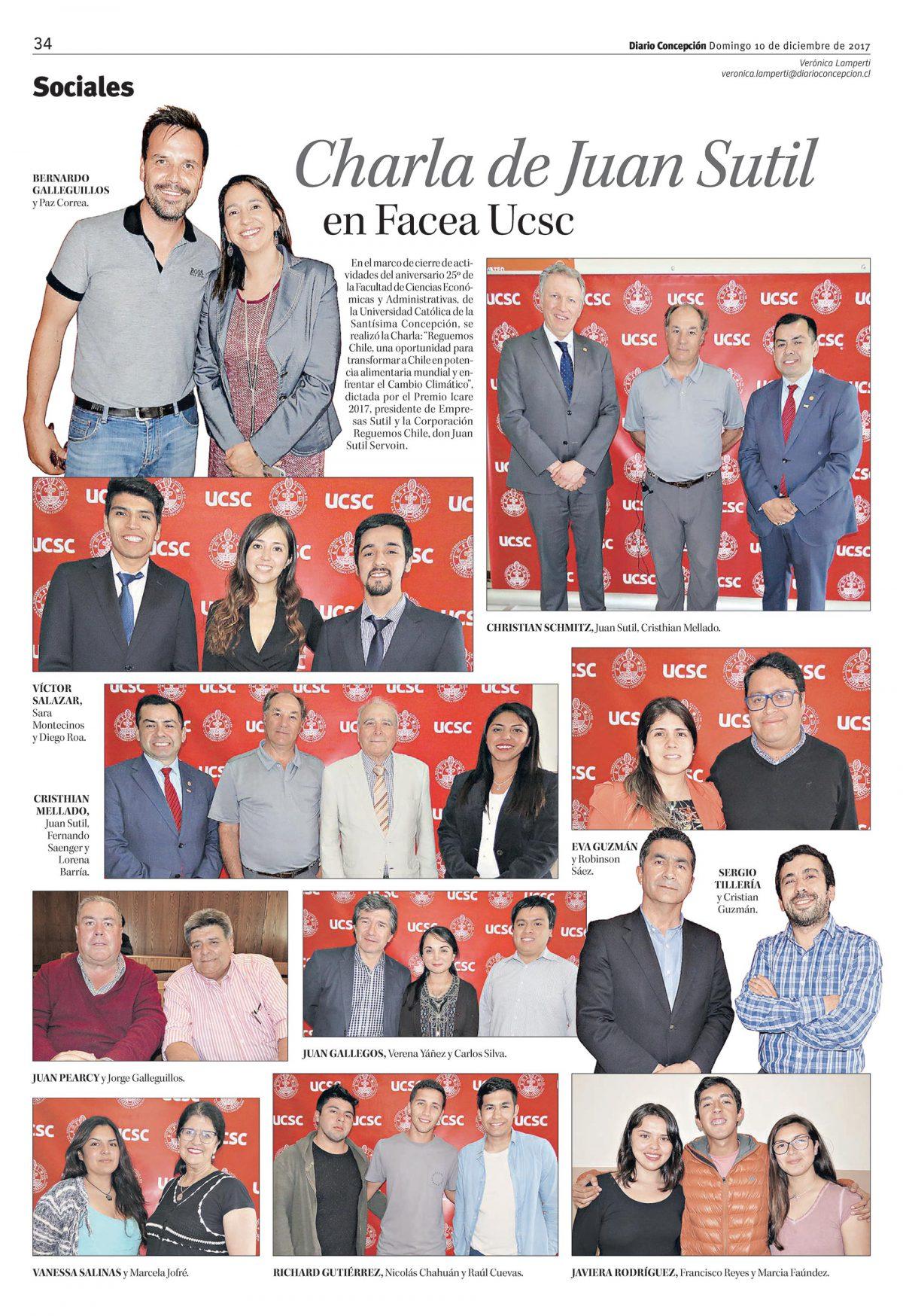 Charla de Juan Sutil en Facea Ucsc