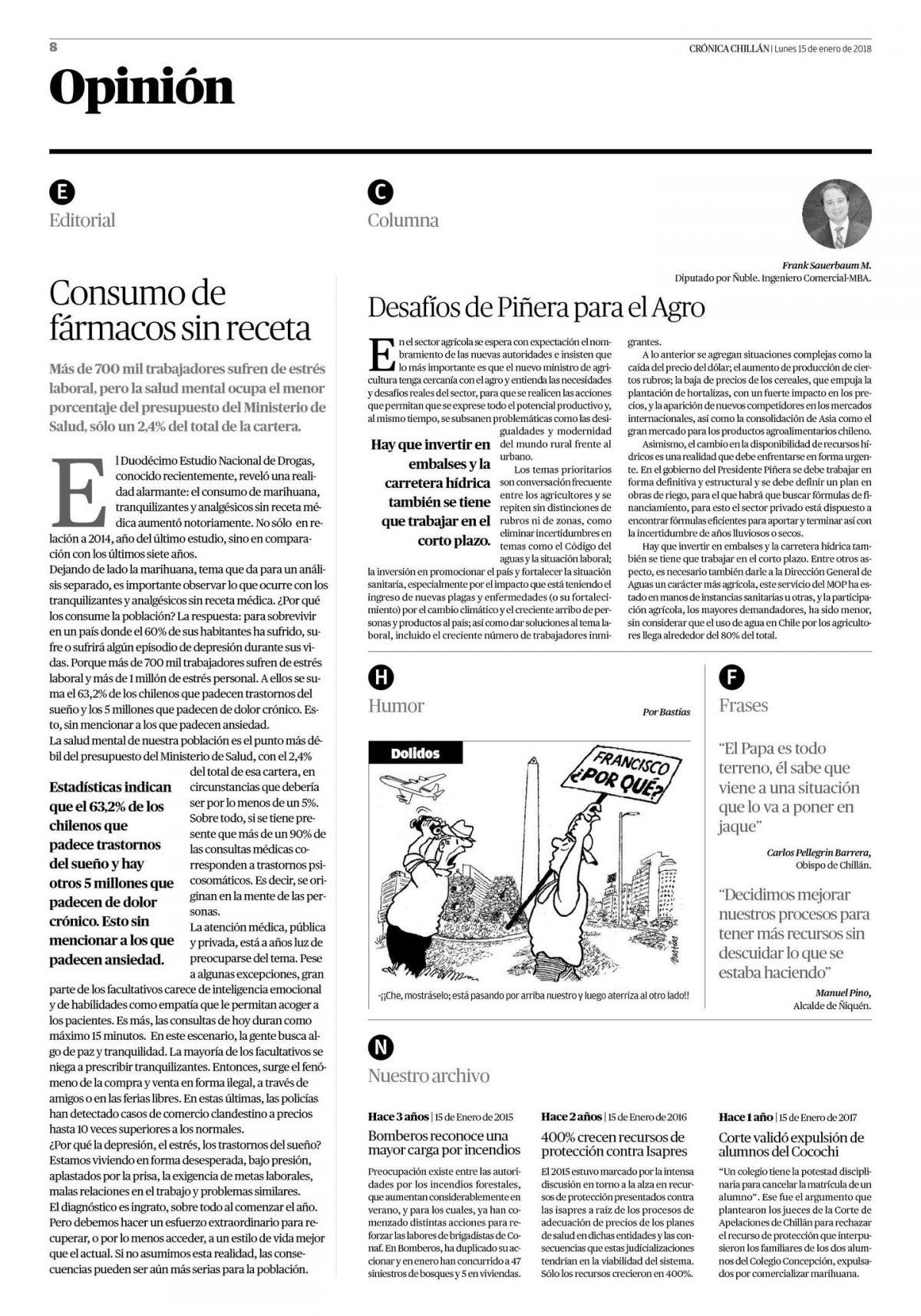 Desafíos de Piñera para el Agro