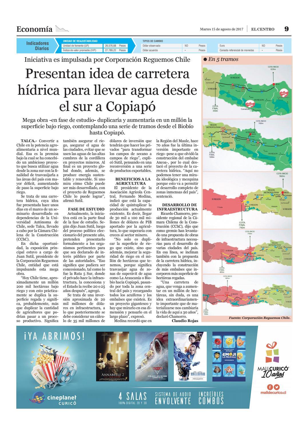 Presentan idea de carretera hídrica para llevar agua desde el sur a Copiapó