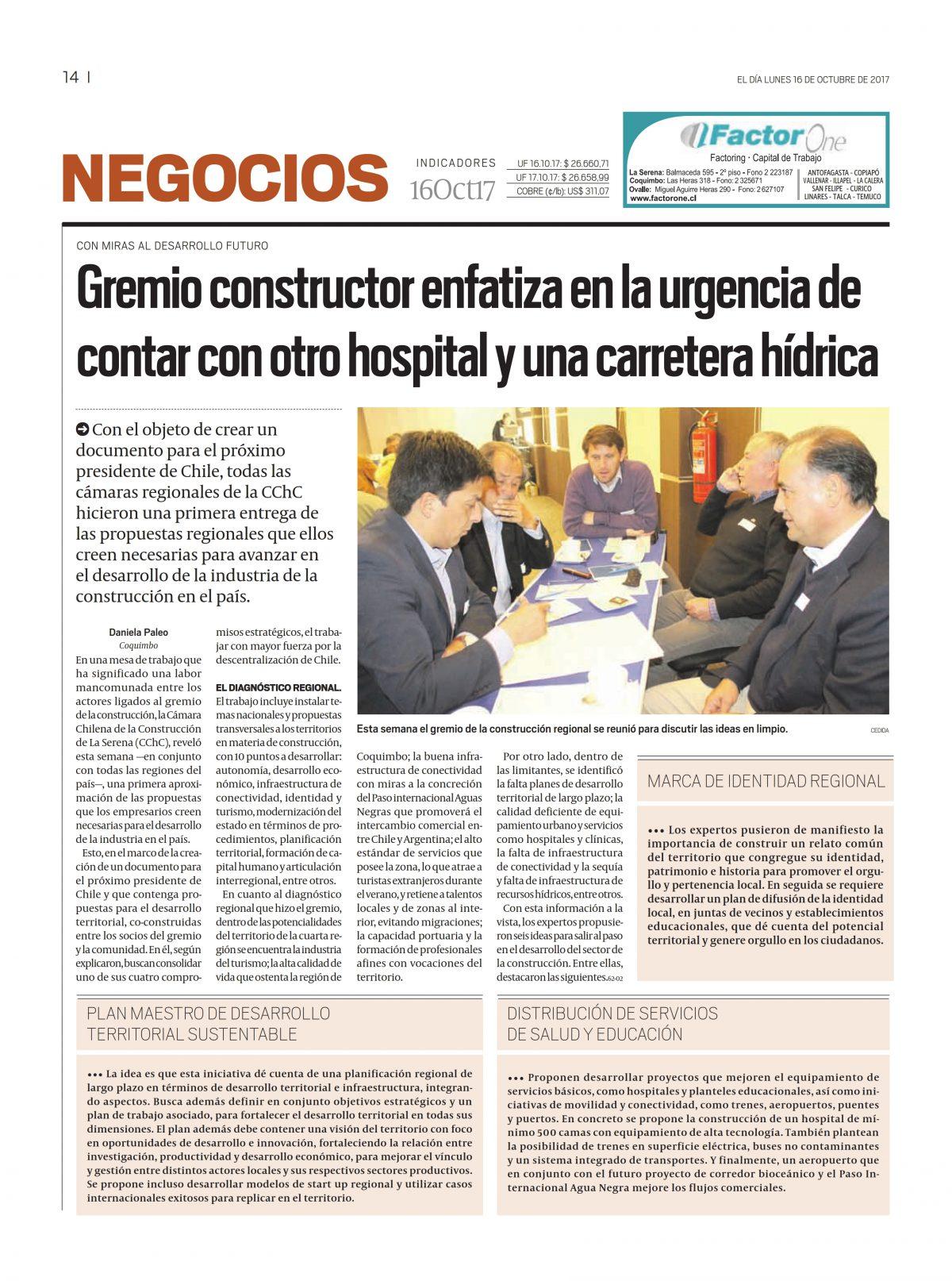 Gremio constructor enfatiza en la urgencia de contar con otro hospital y una carretera hídrica