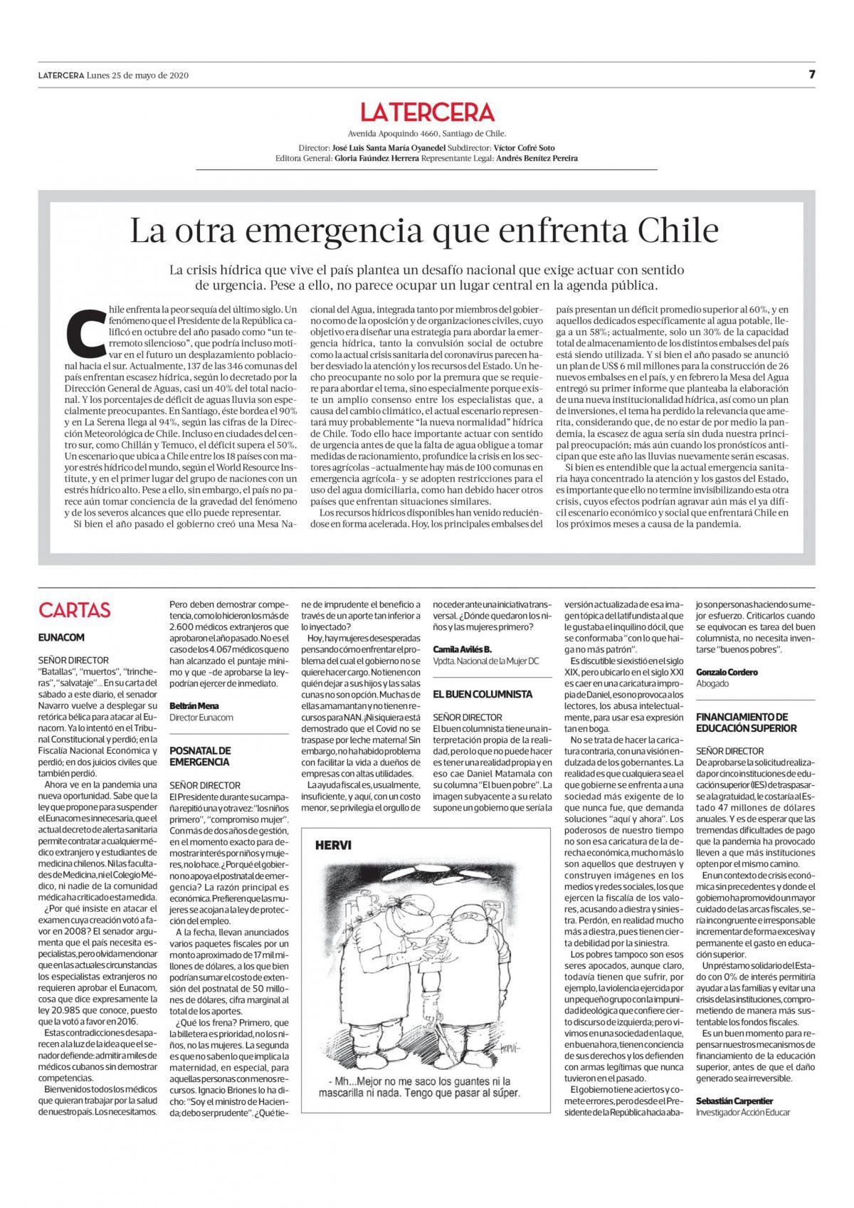 La otra emergencia que enfrenta Chile