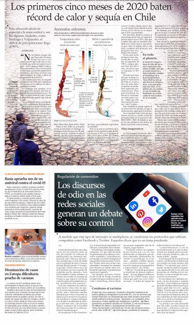Los primeros cinco meses del 2020 baten récord de calor y sequía en Chile